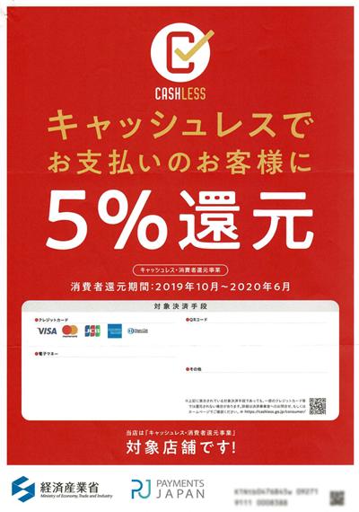 キャッシュレス・消費者還元事業広報用ツールイメージ