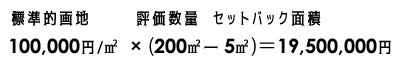 セットバック評価額計算式2