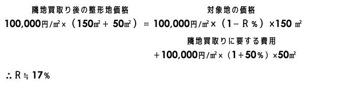 アプレイザーM連載第5回不整形地 格差率イメージ1