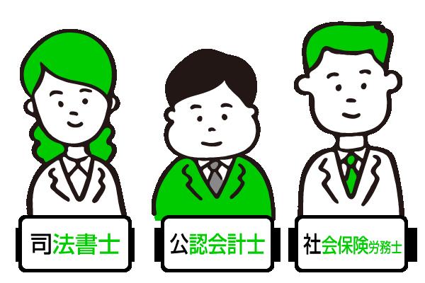 司法書士・公認会計士・社会保険労務士イメージ