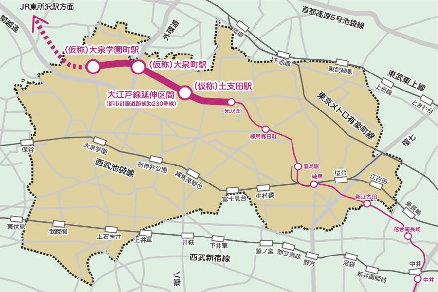 大江戸線延伸計画の概要イメージ