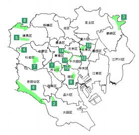 東京23区風致地区指定位置図イメージ