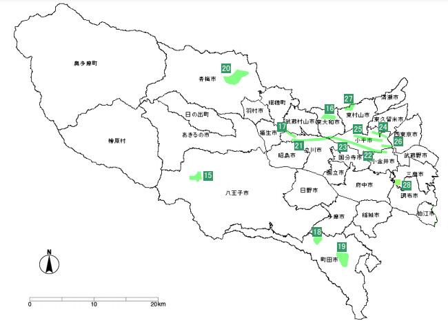 東京都下風致地区指定位置図イメージ