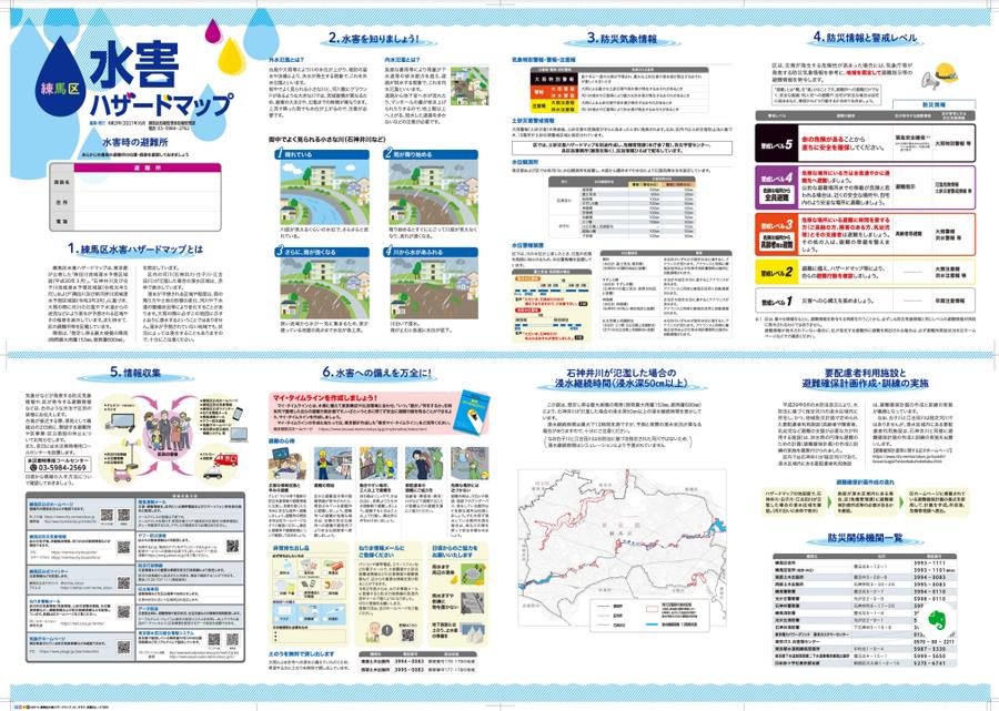 練馬区水害ハザードマップ